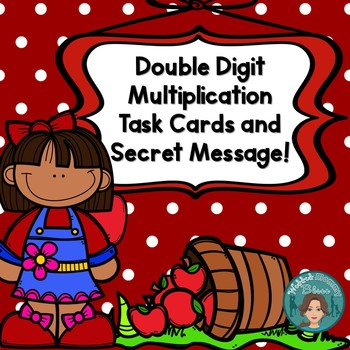 Fall-Double Digit Multiplication Task Cards with Secret Message