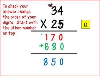 Double Digit Multiplication- Teacher and student version