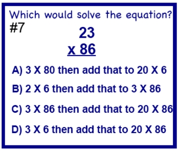Double Digit Multiplication Test Prep Worksheet Distributive Property