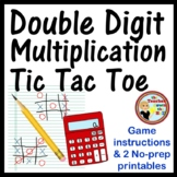 Multiplication Tic TacToe 2 Digit x 2 Digit