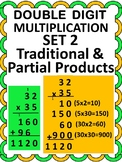 Distance Learning 2 Digit Multiplication- Traditional and