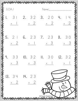 Double Digit Multiplication/Two Digit Multiplication No Regrouping