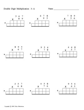 Multiplication, double digit, with grids