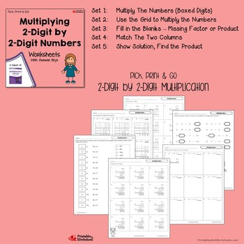 Double Digit Multiplication Worksheets With Answer Keys