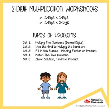 Double Digit Multiplication Worksheets for Assessment and Practice