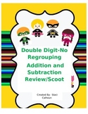 Double Digit -No Regrouping- Addition and Subraction Scoot