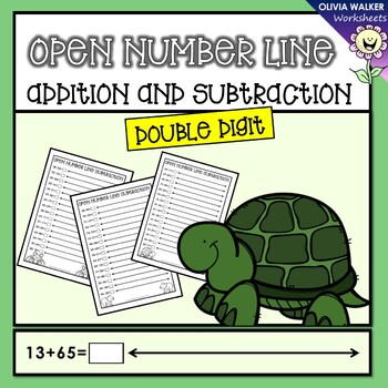 Double Digit Open Number Line Addition and Subtraction (Two Digit Numberline)