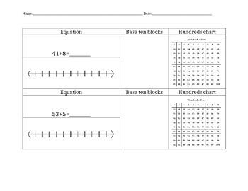 Double Digit Plus Single Digit Practice Worksheet