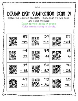Double Digit QR Code Fun! (No Regrouping)
