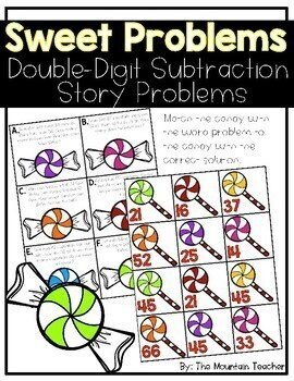 Double Digit Story Problems - Subtraction with Regrouping