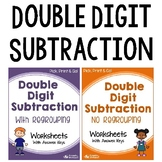 2-Digit Subtraction With and Without Regrouping Worksheets