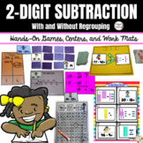 Double Digit Subtraction, 2-Digit Subtraction Game (War, M