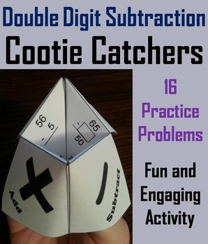 2 Digit Subtraction Practice Activity/ Two Digit Subtraction Game  2nd 3rd Grade