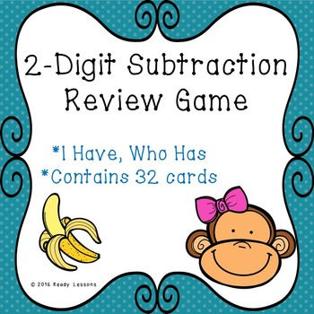 I Have Who Has Double Digit Subtraction Game