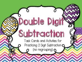 Double Digit Subtraction Activities (2nd gr. CCSS)