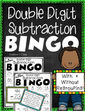 Double Digit Subtraction BINGO --  With and Without Regrouping