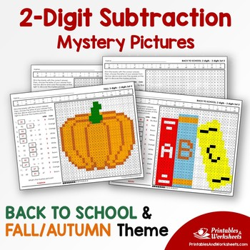 Double Digit Subtraction - Back To School, Fall