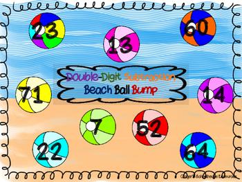 Double Digit Subtraction Beach Ball BUMP Game