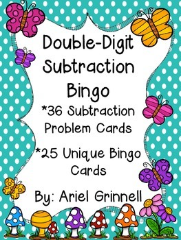 Double-Digit Subtraction Bingo