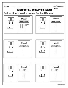 Double Digit Subtraction - Daily Math Lessons - Unit 5