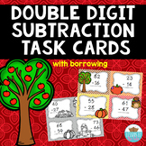 Double Digit Subtraction Fall Task Cards {With Borrowing/ Regrouping}