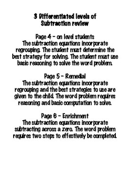 Double Digit Subtraction - GO Math! and Envisions