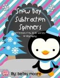 Double Digit Subtraction Game Freebie Snow Day Spinners