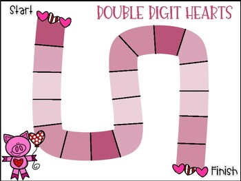 Double Digit Subtraction Hearts (with regrouping)