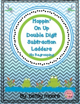 Double Digit Subtraction Without Regrouping Ladder Game- Hoppin' On Up
