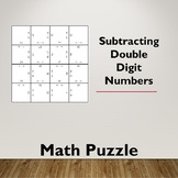 Subtracting Double Digit Numbers Math Puzzle