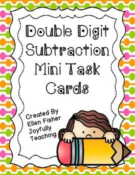Double Digit Subtraction Mini Task Cards