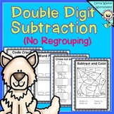 Double Digit (Two Digit) Subtraction - No Regrouping - Wor