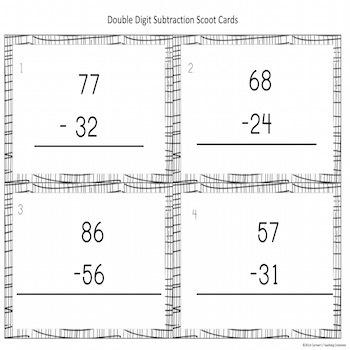 Double Digit Subtraction Practice