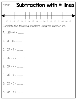 Double Digit Subtraction Practice Sheets & Quizzes (10 pages)