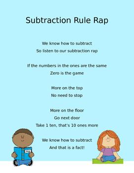 Double Digit Subtraction Rap