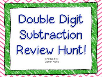 Double Digit Subtraction {Review Hunt!}