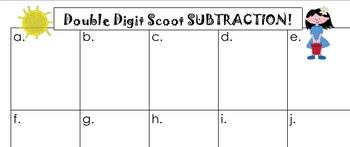 Double Digit Subtraction Scoot Bundle Common Core 2.NBT.5 2.NBT.7