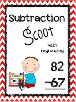 Double Digit Subtraction Scoot- Complete Bundle