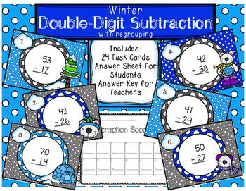Double-Digit Subtraction Scoot Winter