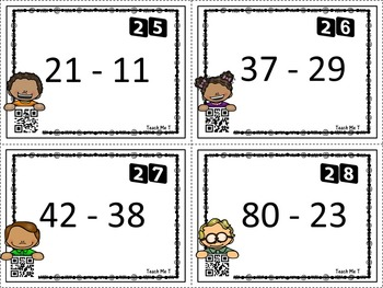 how to teach double digit subtraction with borrowing