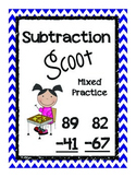 Double Digit Subtraction Scoot- with and without  regrouping