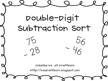 Double-Digit Subtraction Sort