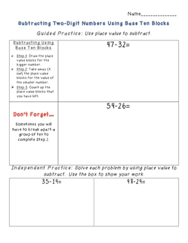 Double Digit Subtraction Strategies (The Common Core Way!)