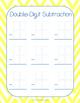 Double-Digit Subtraction Templates FREEBIE
