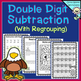 Double Digit Subtraction - With Regrouping (Two Digit Subt