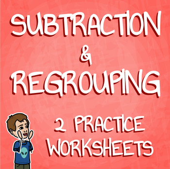 Double Digit Subtraction With Regrouping Practice Worksheets Set 1