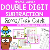 Double Digit Subtraction Without Regrouping Task Cards - N