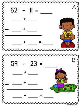 Double Digit Subtraction Without Regrouping Using Expanded Form