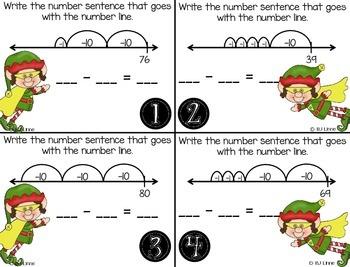 Double-Digit Subtraction on an Open Numberline Roam the Room Activity!