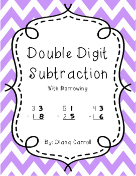 Double Digit Subtraction with Borrowing Regrouping Worksheets